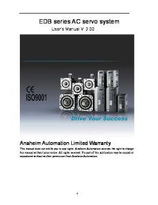 EDB series AC servo system