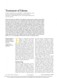 Edema is a frequently encountered