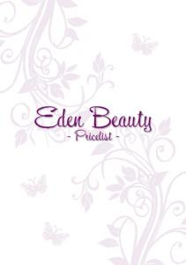 Eden Beauty. We hope you enjoy your experience with us