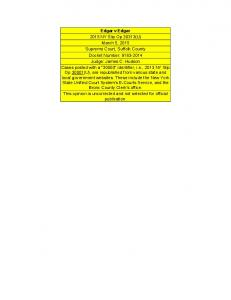 Edgar v Edgar 2015 NY Slip Op 30313(U) March 5, 2015 Supreme Court, Suffolk County Docket Number: Judge: James C. Hudson Cases posted with