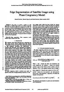 Edge Segmentation of Satellite Image using Phase Congruency Model