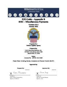 EDI Guide - Appendix B 810C - Miscellaneous Payments