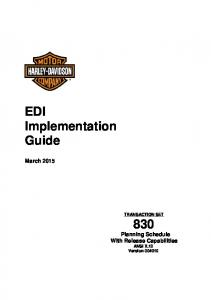 EDI Implementation Guide