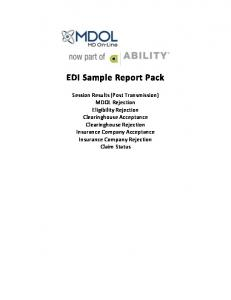 EDI Sample Report Pack