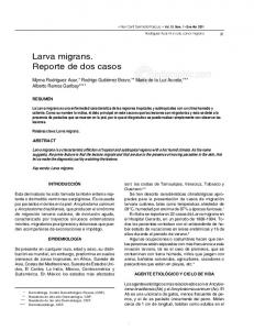 edigraphic.com Larva migrans. Reporte de dos casos