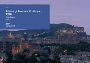 Edinburgh Festivals 2015 Impact Study Final Report