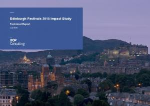 Edinburgh Festivals 2015 Impact Study Technical Report
