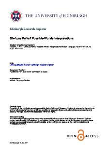 Edinburgh Research Explorer