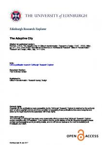 Edinburgh Research Explorer