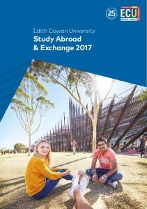 Edith Cowan University Study Abroad & Exchange 2017