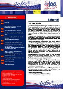 Editorial CONTENIDO. Pg.1 Editorial. Pg.2