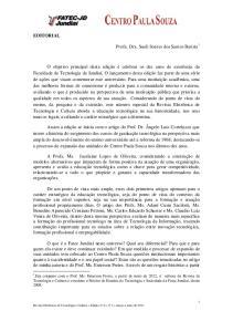 EDITORIAL. Profa. Dra. Sueli Soares dos Santos Batista 1