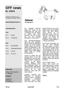 Editorial. von Claudia Hirt