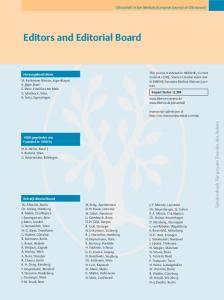 Editors and Editorial Board