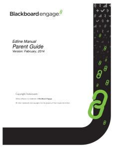Edline Manual Parent Guide Version: February, 2014