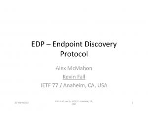 EDP Endpoint Discovery Protocol