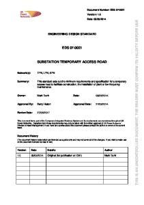 EDS SUBSTATION TEMPORARY ACCESS ROAD