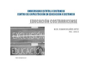 EDUCACIÓN COSTARRICENSE
