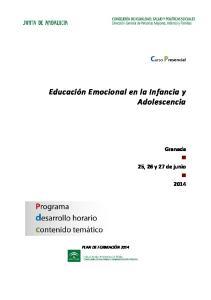 Educación Emocional en la Infancia y Adolescencia