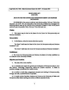 EDUCATION ACT (CAP. 327)