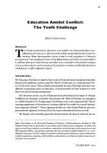 Education Amidst Conflict: The Youth Challenge