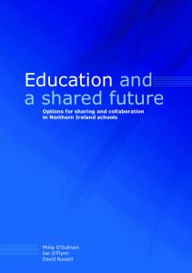 Education and a shared future