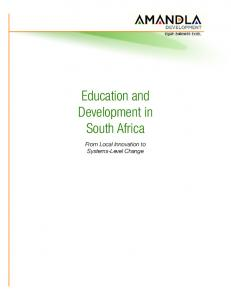 Education and Development in South Africa