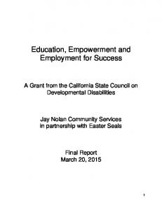 Education, Empowerment and Employment for Success