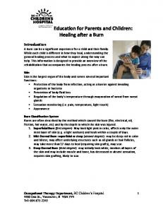 Education for Parents and Children: Healing after a Burn