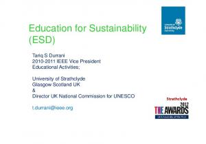 Education for Sustainability (ESD)