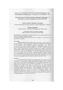 Education from EU finances in the community in Skarszewy in Pomorskie province in Poland in the years Dariusz Skalski, Stanislaw Przybylski