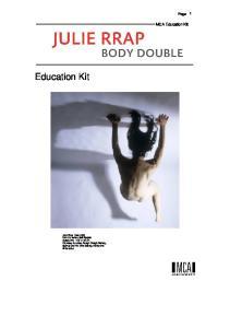 Education Kit. MCA Education Kit. Page