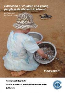 Education of children and young people with albinism in Malawi