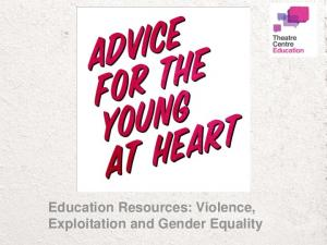 Education Resources: Violence, Exploitation and Gender Equality