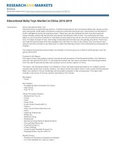 Educational Baby Toys Market in China