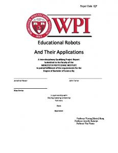 Educational Robots And Their Applications