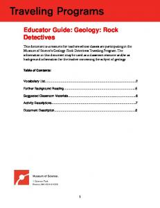 Educator Guide: Geology: Rock Detectives