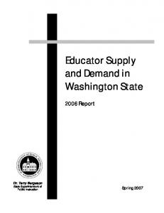 Educator Supply and Demand in Washington State