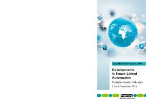 EduNet InterAction Developments in Smart Linked Automation Science meets Industry