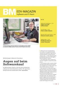 EDV-MAGAZIN. Augen auf beim Softwarekauf. Software und IT-Praxis