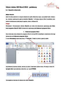 Edytor tekstu MS Word podstawy