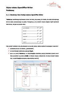 Edytor tekstu OpenOffice Writer Podstawy