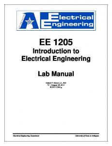EE 1205 Introduction to Electrical Engineering Lab Manual