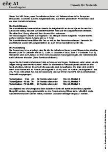 eñe A1 Hinweis für Testende Einstufungstest