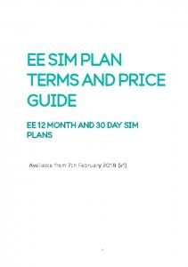 EE SIM PLAN TERMS AND PRICE GUIDE