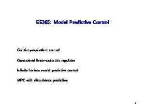 EE365: Model Predictive Control