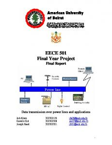 EECE 501 Final Year Project Final Report