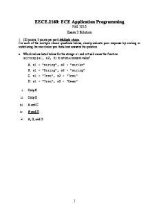 EECE.2160: ECE Application Programming Fall 2016 Exam 2 Solution