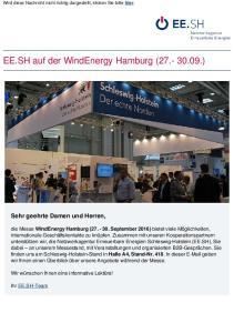 EE.SH auf der WindEnergy Hamburg ( )
