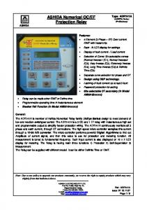 EF Protection Relay